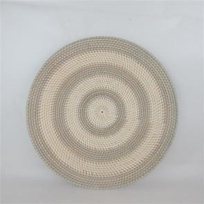 Lombok Wall Decor Plate Grey/White Stripe