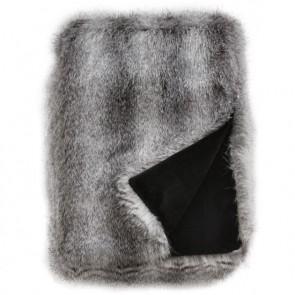 Heirloom Grey Wolf Faux Fur Throw