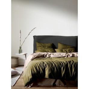 Halo Organic Cotton Duvet Cover by Aura - Khaki