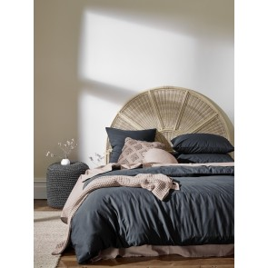 Halo Organic Cotton Duvet Cover by Aura - Steel Grey