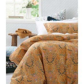 Hattie Gold Duvet Cover Set by MM Linen