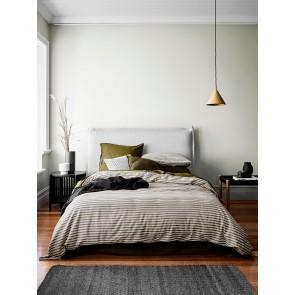 Heirloom Stripe Duvet Cover by Aura - Khaki