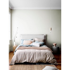 Heirloom Stripe Duvet Cover by Aura - Rosewater