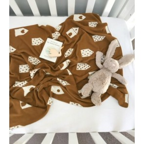 Baby Blanket 100% Cotton House Print
