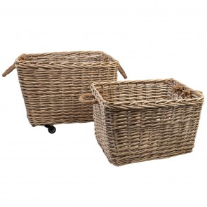 Willow Baskets Natural Set of 2