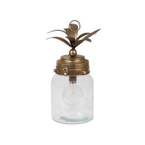 Metal Palm Leaf Lantern Small