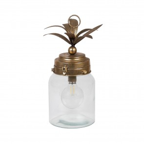 Metal Palm Leaf Lantern Large