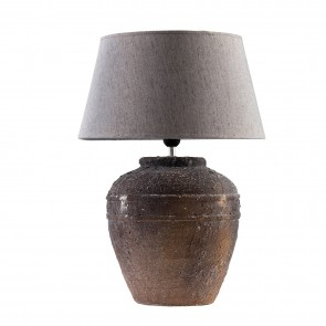 Speckled Lamp with Shade