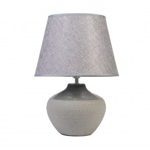Speckled Urn II Lamp with Grey Shade
