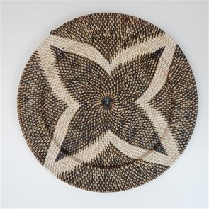 Lombok Deco Star Plate Black/White