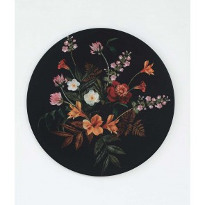 Isola Black Round Wall Art by MM Linen