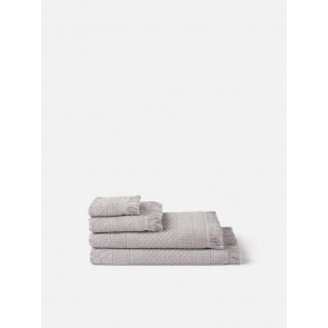 Jacquard Bath Towel Collection - Grey