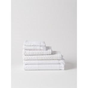Jacquard Bath Towel Collection - White