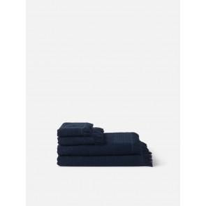 Jacquard Bath Towel Collection - Navy