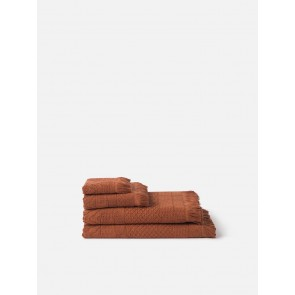 Jacquard Bath Towel Collection - Chestnut
