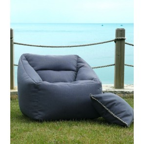 Kalo Outdoor Bean Chair Collection by MM Linen - Blue