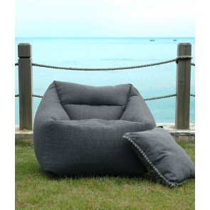 Kalo Outdoor Bean Chair Collection by MM Linen - Charcoal