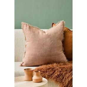 Mulberi Keaton 100% Linen Cushion - Cinnamon