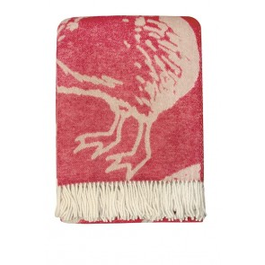 Mulberi Kiwi Large Red Wool Throw