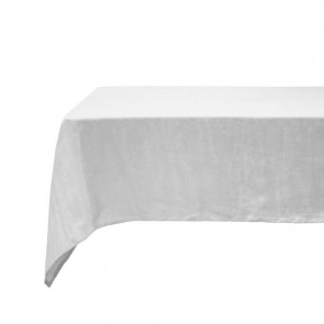 Silver French Linen Tablecloth by Bambury