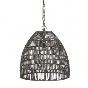 Balthazar Oval Large Pendant - Matt Black