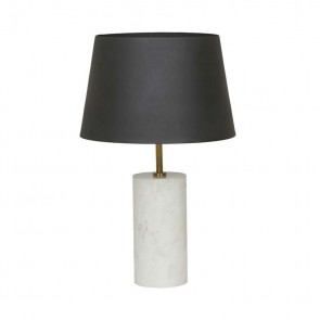Easton Marble Table Lamp by Globe West - Black/White