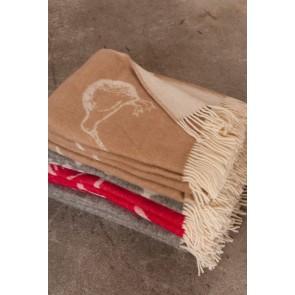 Mulberi Kiwi Small 100% Wool Throw -  Fawn