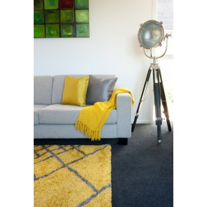 Limon City Graphix - Citron/Grey Floor Rug