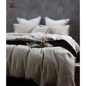 Laundered Linen Duvet Cover Set by MM Linen - Natural