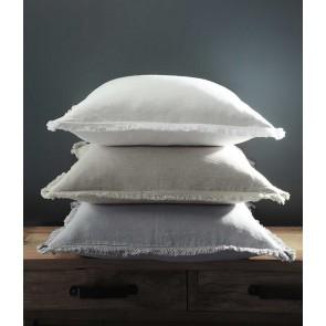 Laundered Linen Tassel Euro Pillowcase Pair and Pillowcase Pair