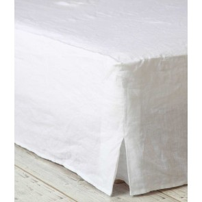 Laundered Linen Valance by MM Linen White