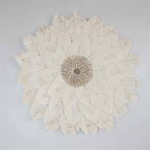 Leaf Circle with Shells Wall Art