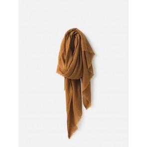 Lilian Wool Silk Scarf - Orange Peel