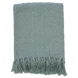 Limon Acrylic Boucle Yarn Throw Duck Egg Blue