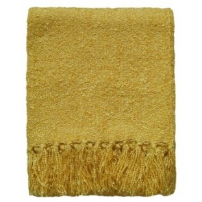 Limon Acrylic Boucle Yarn Throw Golden Yellow