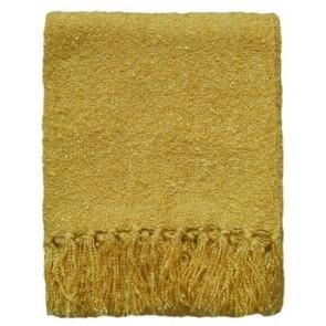 Limon Acrylic Boucle Yarn Throw Golden Yellow