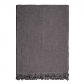 Lindis Throw by Linens & More - Charcoal
