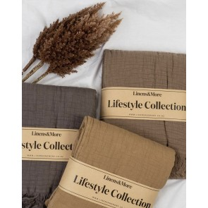 Lindis Throw by Linens & More - Oak
