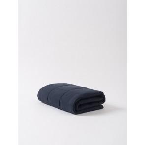 Linen Quilted Blanket - Navy