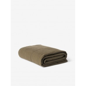 Linen Quilted Blanket - Ivy