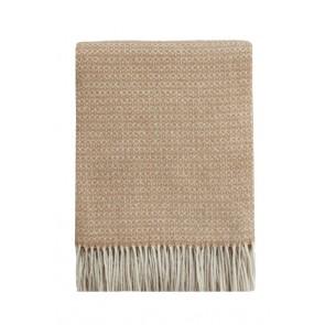 Mulberi Littano Merino Wool Blend Throw - Latte