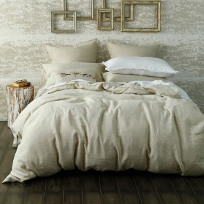 Laundered Linen Duvet Cover Set by MM Linen - Natural