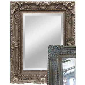 Pewter Leaner Mirror