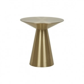 Elle Hourglass Side Table - Brushed Gold