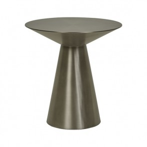 Elle Hourglass Side Table - Gunmetal