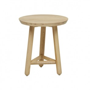Linea Small Tri Base Side Table - Natural