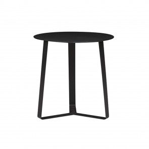 Cancun Ali Round Side Tables (Outdoor) - Black