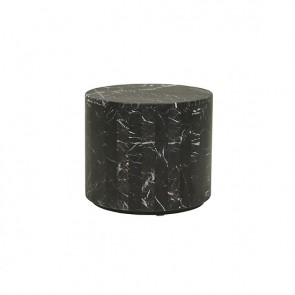 Elle Block Round Side Table - Black