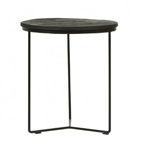 Flinders Round Side Table Large Matt Black