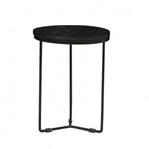 Flinders Round Side Table Small Matt Black